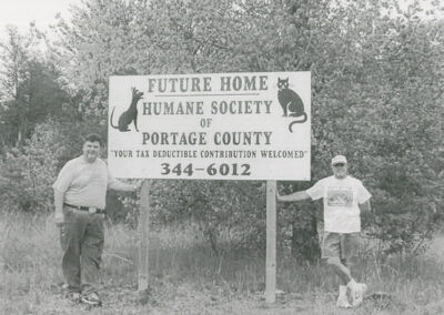 Future Home of Humane Society of Portage County sign