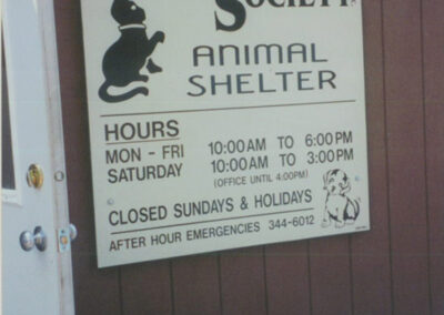 Portage County Humane Society Animal Shelter sign