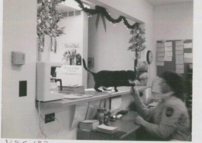 Humane officer at desk in 1987