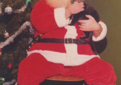 Santa with cat